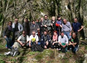 Gruppo escursione sorgente Cesano aprile 2013